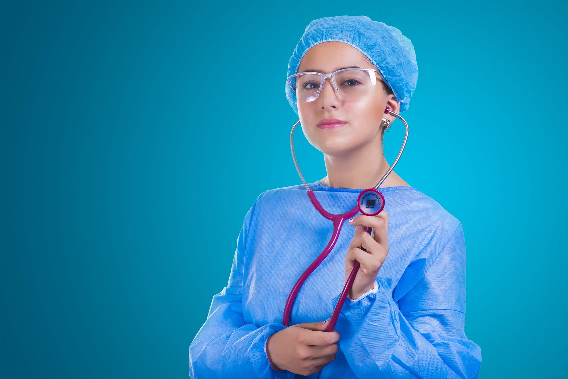 adult doctor girl healthcare